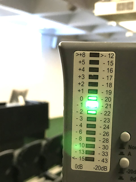 Strength meter showing signal too strong in red